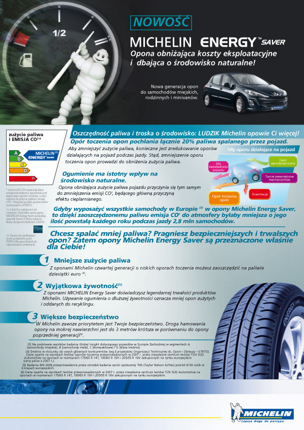 Michelin Energy Saver - ulotka