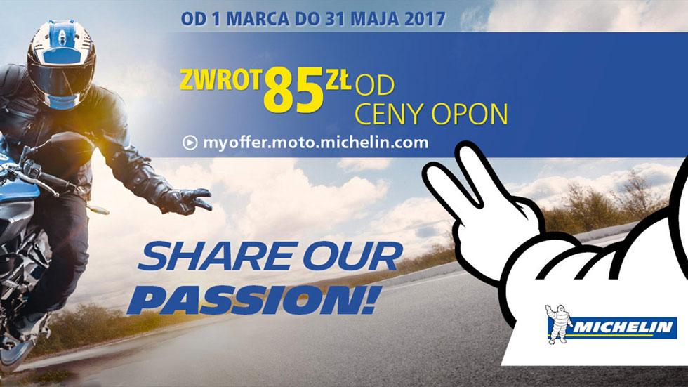 Opony motocyklowe Michelin - promocja - Share Our Passion